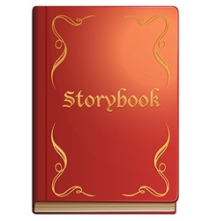 Storybook with red covers vector