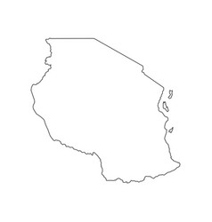 Tanzania map silhouette vector