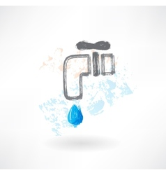 Tap water grunge icon vector