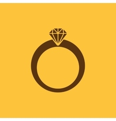 The ring icon Diamond and jewelry wedding symbol vector