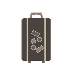 travel bag suitcase luggage trip tourism concept vector image
