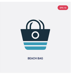 two color beach bag icon from summer concept vector image