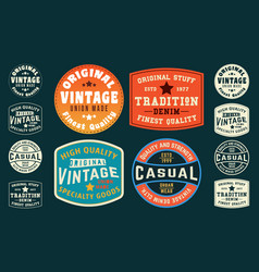Vintage t shirt typography design tag print vector