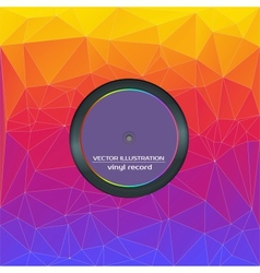 Vinyl records in an envelope with a background of vector image