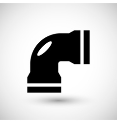 Water pipe icon vector
