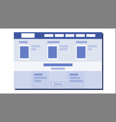 website flat design ux sketch template vector image
