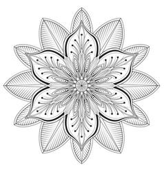 flower mandalas vector image