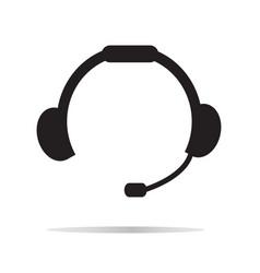 headset icon on white background headset symbol vector image vector image