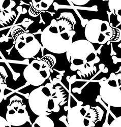 Lots of skulls vector image vector image