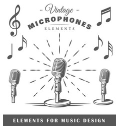musical elements vector image vector image