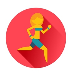 running sports girl icon vector image vector image
