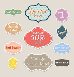 vintage label set for web vector image