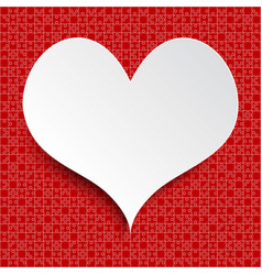 white heart red piece puzzle valentine love vector image vector image