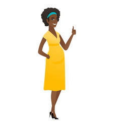 african pregnant woman giving thumb up vector image vector image