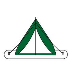 camping materials flat vector image vector image
