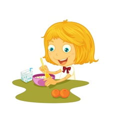 Child eating vector image