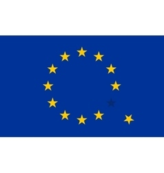Flag of European Union EU with a flying star vector image vector image