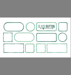 glass buttons frames square round vector image