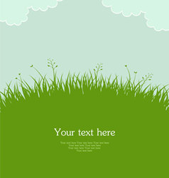 grass template pic vector image vector image