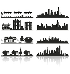 silhouette of city vector image vector image