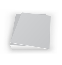 stack of mockup magazines with blan cover vector image