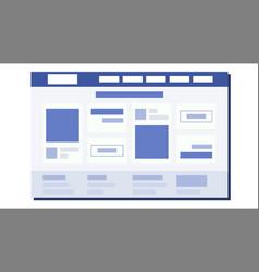 website flat design page plan coding web vector image vector image