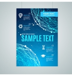 Card Flyer or Placard with Abstract Geometry vector image vector image
