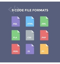 Code File Formats vector image vector image