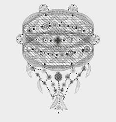 Flowers pattern tattoo openwork vector image