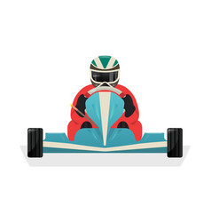 go kart racer isolated icon vector image vector image