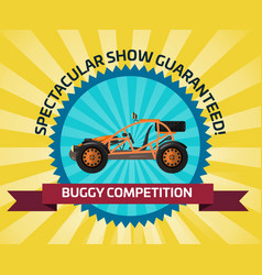 off road buggy car competition banner vector image