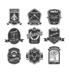 set of vintage alcohol labels vector image vector image