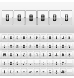 White mechanical scoreboard vector image