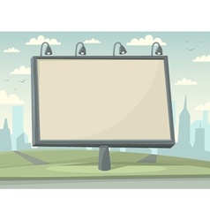 Billboard with city background vector image