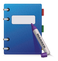 Blue Diary vector image vector image