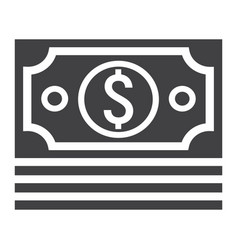 bundle of money glyph icon business and finance vector image