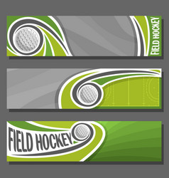 horizontal banners for field hockey vector image