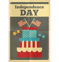 independence poster cake vector image
