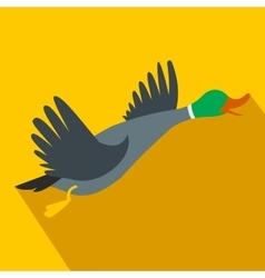 Wild duck flat icon vector