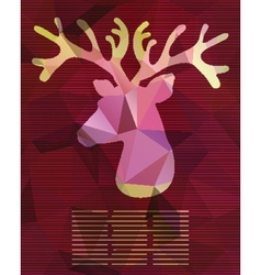 abstract card with deer from triangles vector image