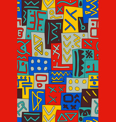 African tribal seamless pattern abstract vector