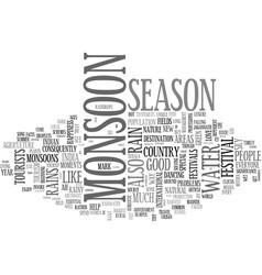 Ah monsoon season text word cloud concept vector