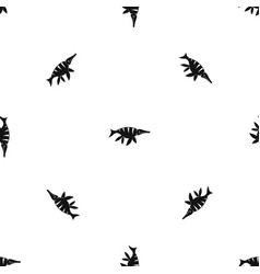 Aquatic dinosaur pattern seamless black vector