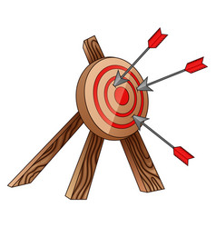 archery target and arrow vector image