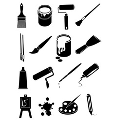 Art painting icons set vector