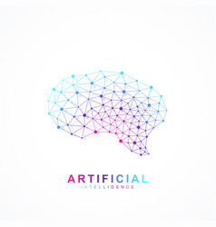 Artificial intelligence brain logo concept vector
