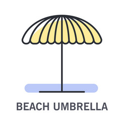 beach umbrella icon for sunshade at beach or pool vector image