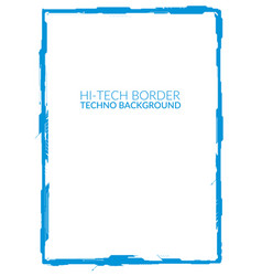blue high-tech border element for a4 formats vector image