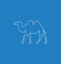 Camel line art silhouette vector