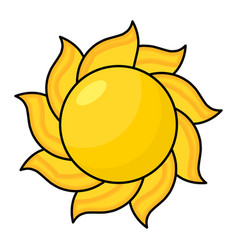 cartoon sun symbol icon design vector image